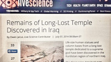 Amid Chaos, Discoveries Are Being Made In Iraq