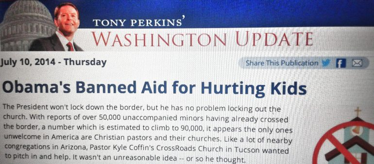 The Government, Undocumented Children, and the Church: Why Tony Perkins Should Retract His Statements