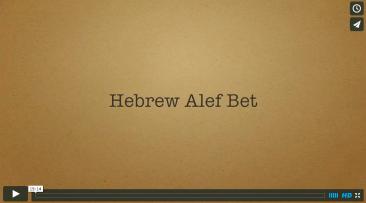 Hebrew Alef-Bet Part 1: Background