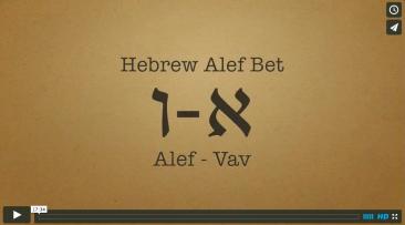 Hebrew Alef-Bet Part 3: Alef through Vav